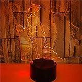 FREEZG lamparitas de noche dormitorio Gimnasia deportes figuras cintas 7 colores Lámpara de decoración Cambio - Regalo perfectos para niño [Clase de eficiencia energética A+]