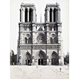 Notre Dame Paris France Vintage Photograph Large Wall Art