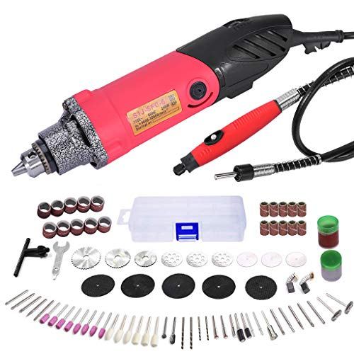 Leadmall Electric Rotary Tool Kit - 240W with 80 Accessories for DIY Projects,Mini Electric Grinder Set Nail Drill Handle Engraving Pen Milling Trimming Cutting Engraving Tool Kit (from US)