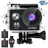 LS-SKY Camera Sport 4k Action Caméra Wi-FI 16MP Caméra étanche Full HD 1080P avec...