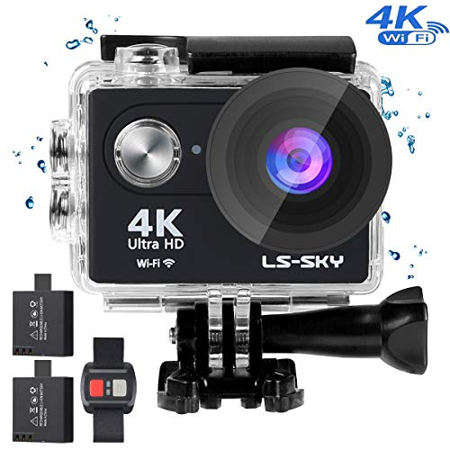LS-SKY Camera Sport 4k Action Caméra Wi-FI 16MP Caméra étanche Full HD 1080P avec capteur...
