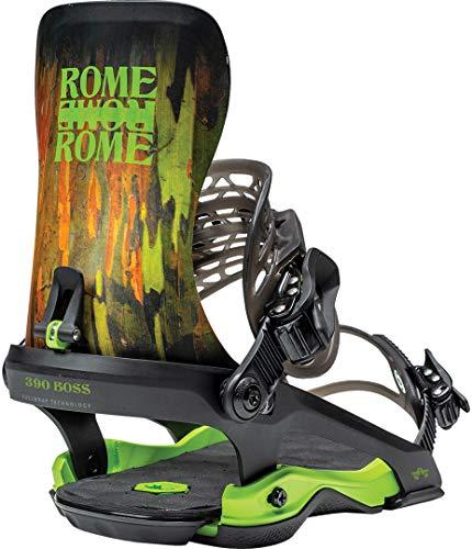 Rome Snowboards 390 Camo L-XL Fijación para Tabla de Snowboard, Hombre, Camuflaje