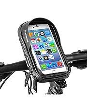 ROCKBROS(ロックブロス)自転車 バイク スマホ ホルダー 防水 携帯ホルダー スマホ固定用ホルダー 防塵 遮光 小物収納 多機能 防塵 脱落防止 5.8/6.0インチ 360°回転可