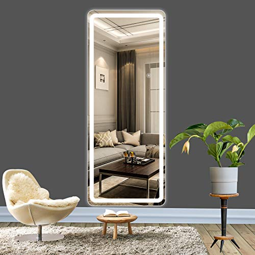 ROTTOGOON 55'x21' Full Body Mirror with Lights, Touch Control Wall Mounted LED Full Length Mirror...