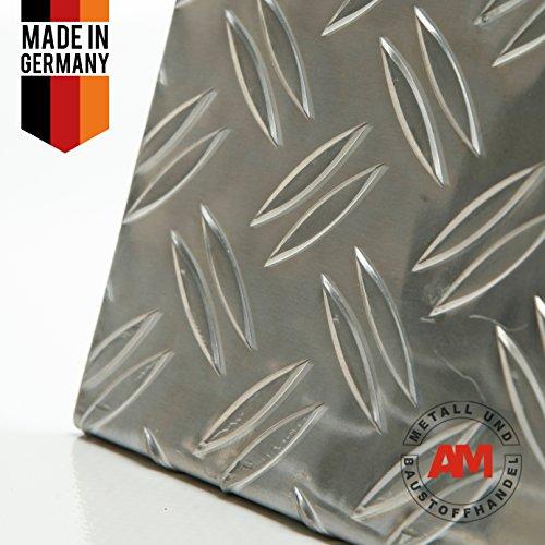 Aluminium Riffelblech 2,5/4,0 mm Duett Warzenblech Tränenblech Zuschnitt nach Maß (1250x2000mm)