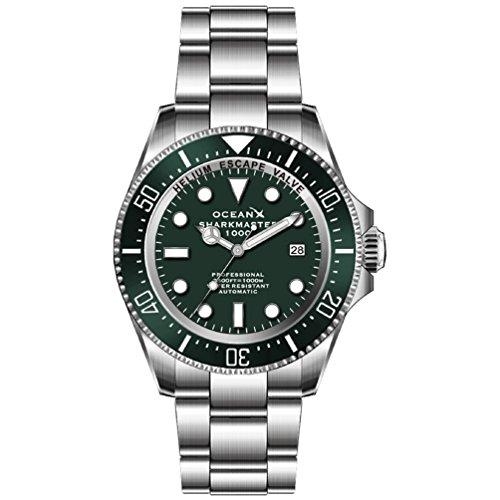 Océano X sharkmaster 1000M Verde Diver–Reloj automático de Hombre sms1013