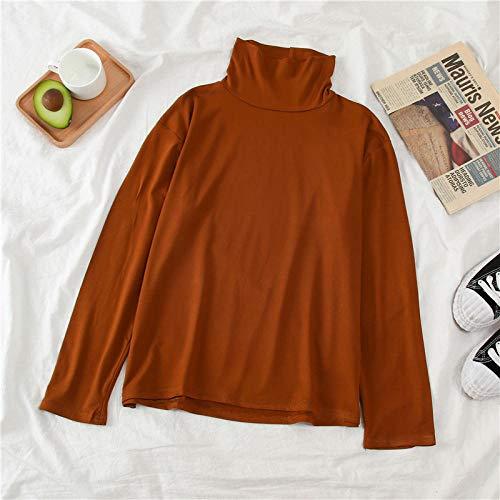 HNKPWY Zwarte Coltrui Lange Mouw Wit Streep Slim Grote Maat Vrouwen T-shirts Straat Kleding Voor Vrouwen