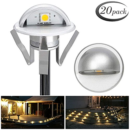 Pack of 20 Low Voltage LED Deck Light Kit Φ1.38