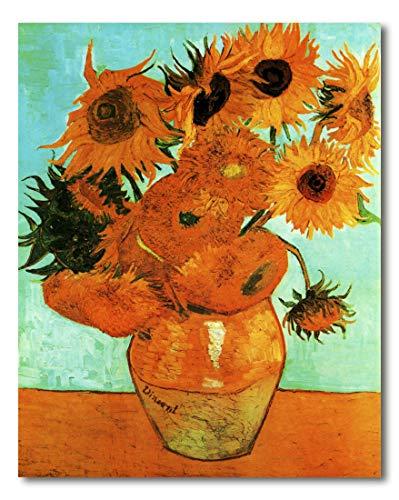 Cuadro Decoratt: Florero con doce girasoles - Van Gogh 35x44cm. Cuadro de impresión directa.
