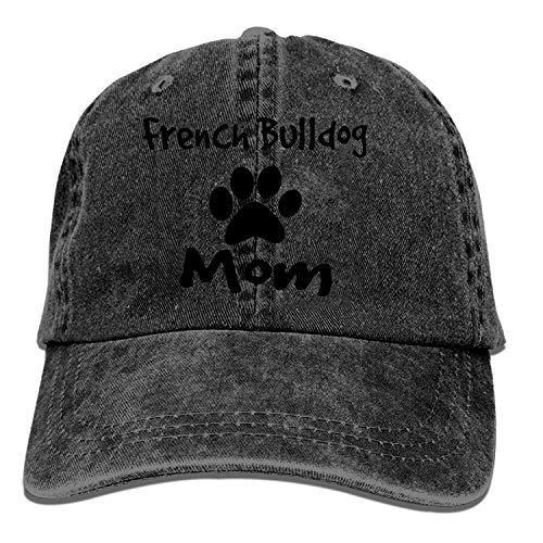 ETXHU Gorra de béisbol para hombre, diseño de bulldog francés, gorra de camionero para hombre, gorro de vaquero ajustable