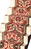 Melody Jane Casa de Muñecas Tejido Alfombra de Escalera Rojo Verde Miniatura Suelo