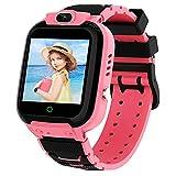 Smartwatch Kinder Uhr Pädagogische USB-Lade-Touchscreen-Uhr Elektronisches Spiel Spielzeug HD Dual-Kamera-Uhr Geburtstagsgeschenke für Kinder Jungen Mädchen im Alter von 3-12(Rosa