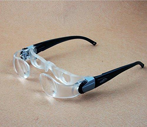Inovey Baja Visión Gafas Portátil Lupas Cabeza Lupa Lectura Lupa Lente Joyería Lupa-Gafas De Lectura