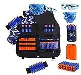 Kit de Chaleco táctico para niños con Correas, reciptación de Pulseras de máscara táctica y Gafas Protectoras de niño
