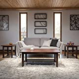 Signature Design by Ashley Lewis 3 Piece Ocassional Table Set, Includes Coffee & 2 End Tables, Brown