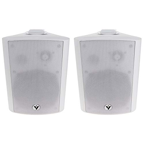 """Voyz 5 1/4"""" White Architectural Speakers -70V 100V Wall Speakers Pair of 2 Indoor and Outdoor 2-Way Passive Loudspeakers   Water Resistant   Full Range Dynamic Speaker   Wall Mounted"""