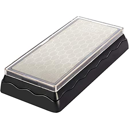 kinlight ダイヤモンド砥石 包丁 研ぎ 両面タイプ #600#1200 研磨 荒研ぎ 中仕上げ 台付き 高品質