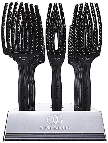 Olivia Garden Fingerbrush Combo - Expositor de cepillos, 12 unidades