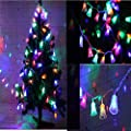 Longay Solar Powered 1.2M 10LED Bell String Light Outdoor Xmas Party Garden Decor