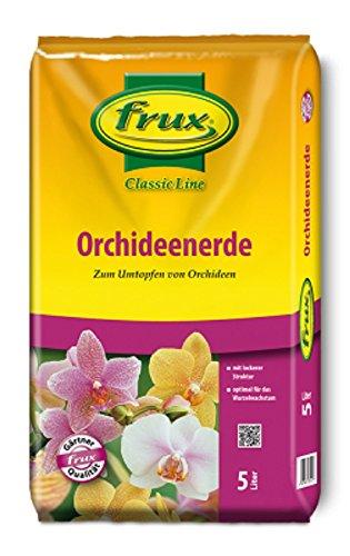 Orchideenerde Orchideen-substrat 5L gebrauchsfertige Frux Classic Line Erde für Orchideen grob hochwertige spezialerde für Orchideen Orchideensubstrat