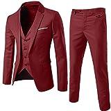 ZhuiKun Zhuikun Costume Trois-Pièces d'affaire Mariage Business Suit Veste & Gilet &...