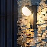 Aplique De Exterior LED Con Detector De Movimiento, Apliques De Exterior, Moderno Aplique De Exterior Aluminio, 3000K, Lámpara De Exterior, Aplique De Pared Con Sensor, Para Terraza, Jardín, Pasillo