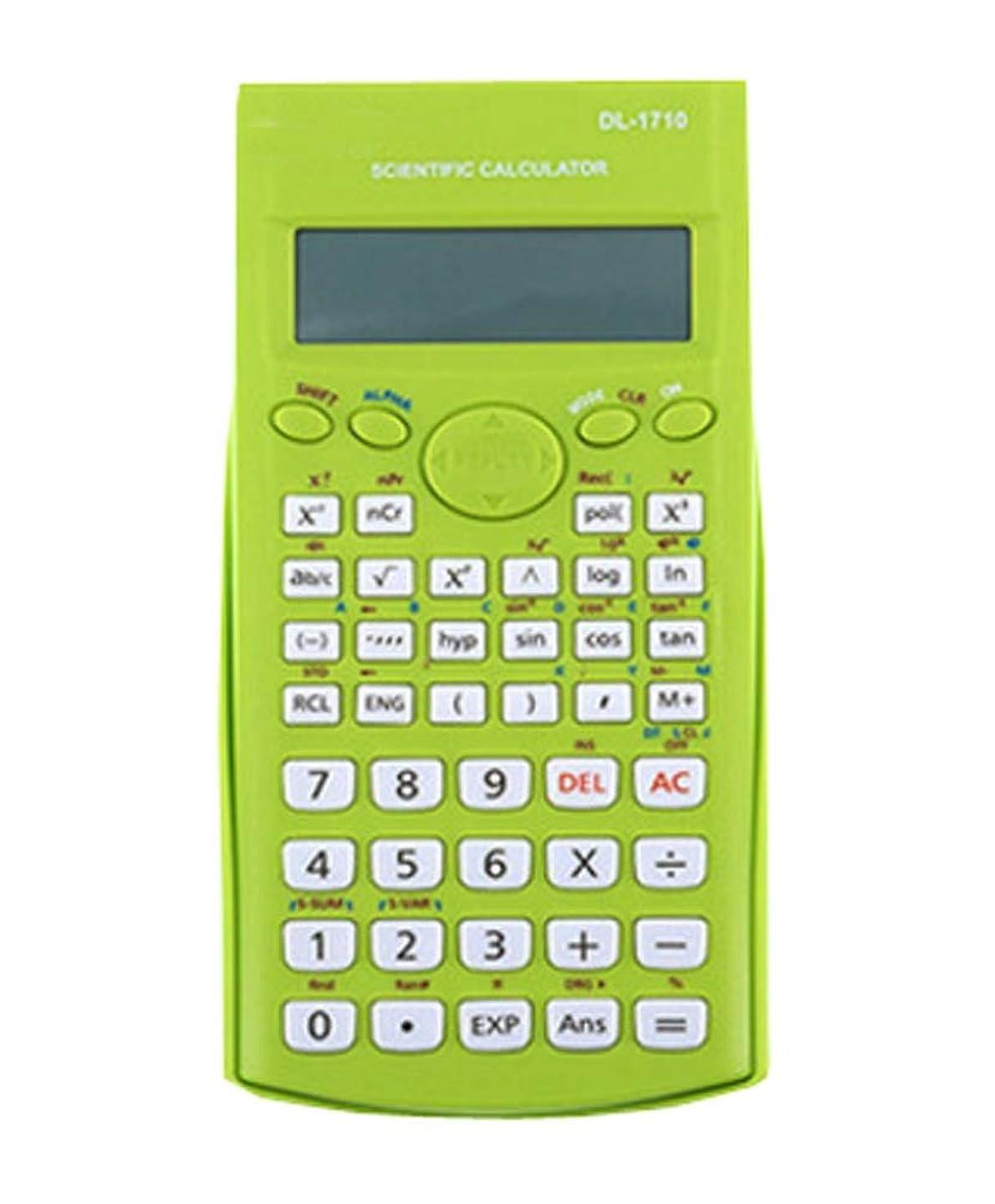 予感三垂直科学電卓、エンジニアリング電卓 - 事務用品、グリーン