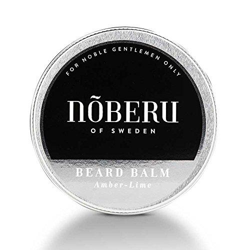 Nõberu Bartbalsam – Amber-Lime - 60 ml (Premium Beard Balm für die Bartpflege & Styling| für 3-Tage Bärte, mittellange Bärte und Vollbart geeignet | das Bart Balsam für den Gentleman | Amber-Limette)