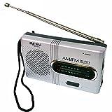 Photo de Masterein BC-R21 Mini Radio Portable AM Radio FM Antenne télescopique de Poche récepteur Mondial Haut-Parleur de la Batterie Powered