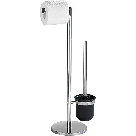 Wenko 21836100 Parus Combiné WC Acier Inox Dimensions 17,5 x 11,0 x 53,5 cm