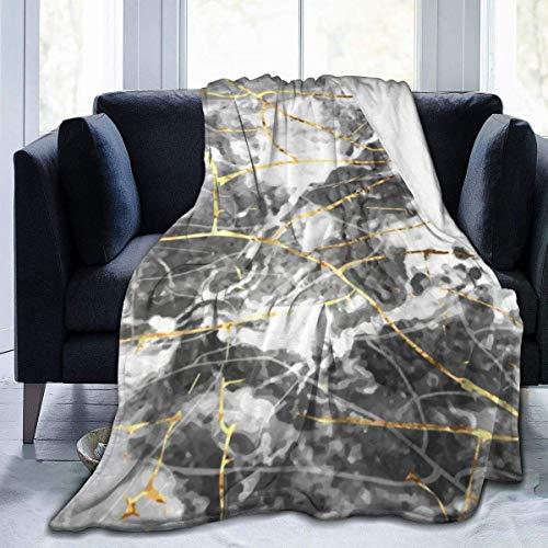 Manta de Forro Polar con diseño de Textura de mármol Dorado, folleto, Manta lanuda, Manta de Microfibra de Felpa para Hombres y Mujeres para Todas Las Estaciones