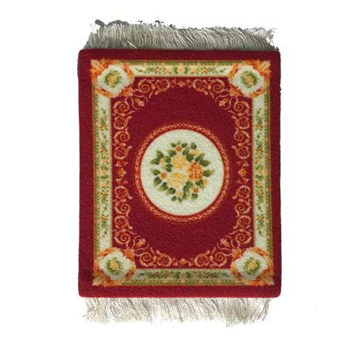 Anxianwin Alfombra de mesa con borlas tejidas vintage nórdicas para café, cocina, sala de estar, decoración de mesa, resistente al calor (rojo 1)
