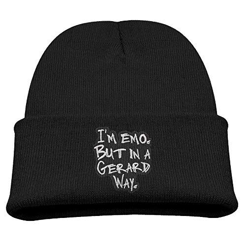 xinfub Gorro de Lana con Texto en inglés «I'm EMO But in A Gerard Way para bebé, para Invierno, cálido, para niños