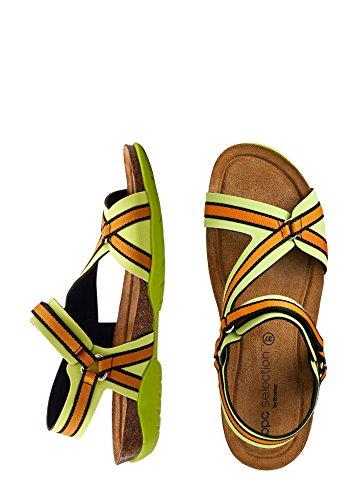 Damen Sandalen by BioStep Farbe: Orange/Grün Größe: 37