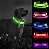 MELERIO Collar Luminoso Perro de Mascota 3 Modos Collar Perro Luz con...