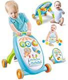 Kiddale Multifunctional 4 Wheel Activity Walker Roller Pusher with Multi Activity Toys, rattles