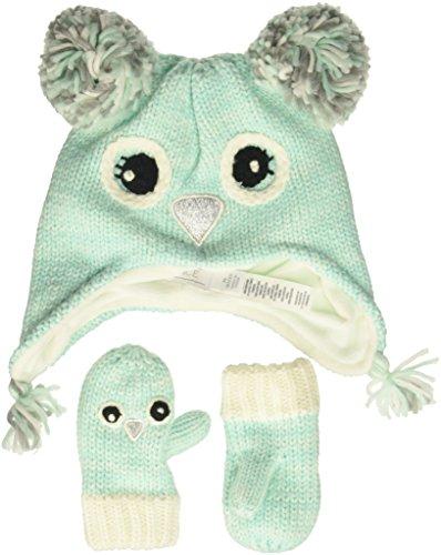 The Children's Place Toddler Girls Novelty Hat & Mittens Set, CRYSTALMNT, L (4T/5T)