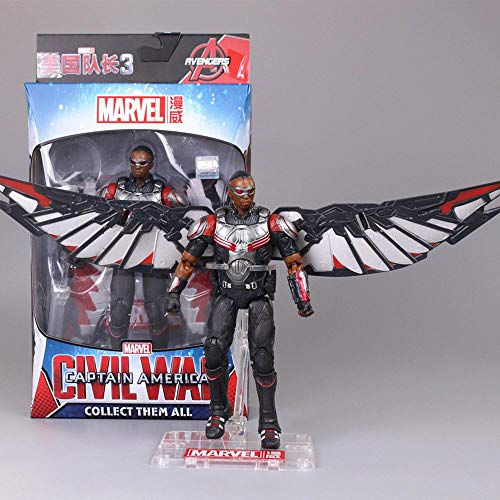 Toys Personaje De Marvel Avengers Figura De Acción De Marvel Avengers Guerra Infinita Iron Man Spider-Man Capitán América Modelo Animado Modelo Juguetes para Niños 17CM Falcon