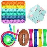 XIHAI Push Pop Bubble, 11 Piezas DescompresióN Y AnsiolíTicos Fidget Set Toys, NiñOs Y Adultos AntiestréS Juguete De Dedo Fiesta De CumpleañOs Set De Juguetes Sensoriales