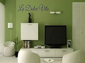 Spk Sticker LA Dolce VITA Italian Quote Vinyl Wall Art Decal Decor Lettering Words Quote Removable