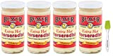 8. Beaver Horseradish Extra Hot 4 oz (4 pack) Bundled with PrimeTime Direct Silicone Basting Brush in a PTD Sealed Bag