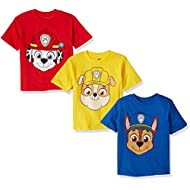 Nickelodeon Boys' Paw Patrol Pack of Three T-Shirts