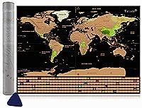 💗 【Scratchable Map Design】 Die äußere Schicht der Weltkarte ist golden und von hoher Qualität. Mit einer Metallmünze, die sanft eine neue und farbenfrohe Welt kratzt. Die Weltkarte enthält komplexe geografische Details wie Erde, Hauptstadt und Teile,...