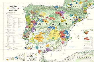 Wine Map of Spain and Portugal