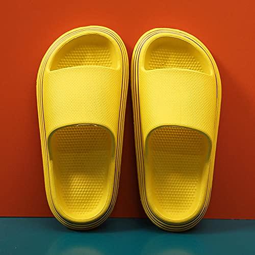 QPPQ Zapatillas de baño junto a la piscina, zapatillas cómodas de verano, sandalias de interior para parejas-9/9.5_amarillo, zapatillas de baño para interiores y exteriores