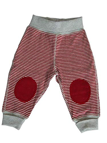 Leela Cotton Baby Kinder Hose Wendehose Bio-Baumwolle Doubleface Interlockstoff Gr.50-56 bis 98-104 (74/80, beige - Melange)