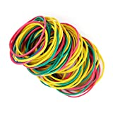 150pcs 50mm(2in) Multi Color Rubber Bands Elastics Bands Sturdy Rubber Bands for Home or Office use