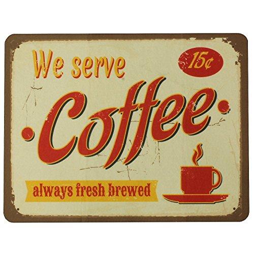 MACOSA PA310 Küchen-Unterlage We Serve Coffee Kunststoff 50 x 38,5 x 3 cm Untersetzer für Kaffemaschinen Wasserkocher Küchen-Zubehör Küchengeräte