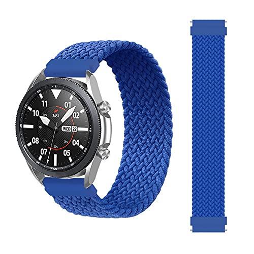 20 mm 22 mm banda trenzada solitario para Samsung Galaxy Watch 3 46mm 42mm activo 2 40 mm 44mm engranaje s3 pulsera Hua GT2 Pro Correa 10688 (Band Color : Atlantic Blue, Size : 22mm)