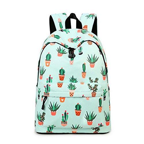 stylish backpack for college - Teecho cactus print